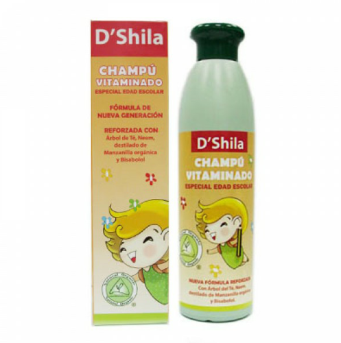 Champú Vitaminado Esp. Escolar (parásitos) 250 ml. D'Shila